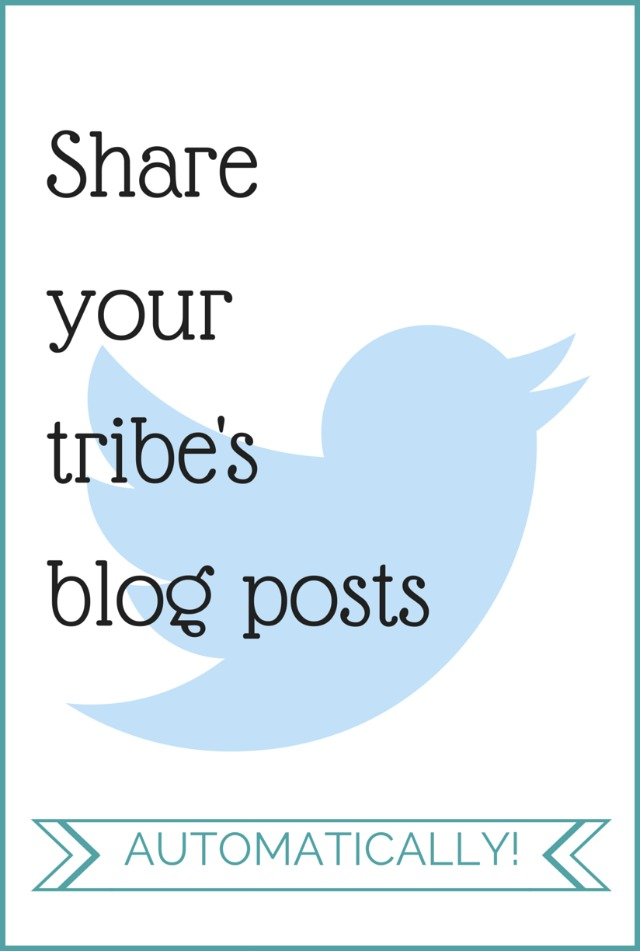 Automatically Share Your Tribe's Blog Posts
