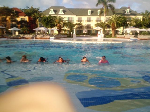 early morning aqua aerobics