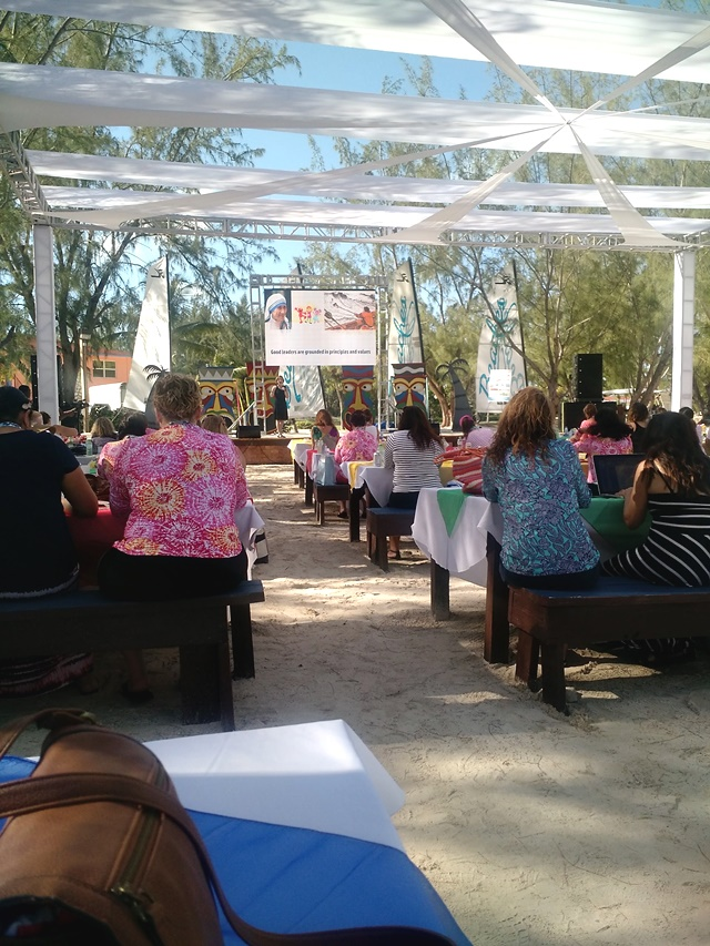 outdoor conference sessions